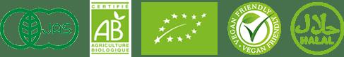 日本有機JAS、Agriculture Biologique(AB認証)、ECOCERT、ユーロリーフ認証